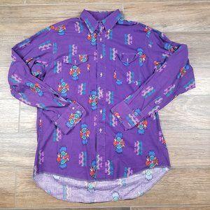 Vintage Wrangler Western Shirt Aztec Print Vibrant
